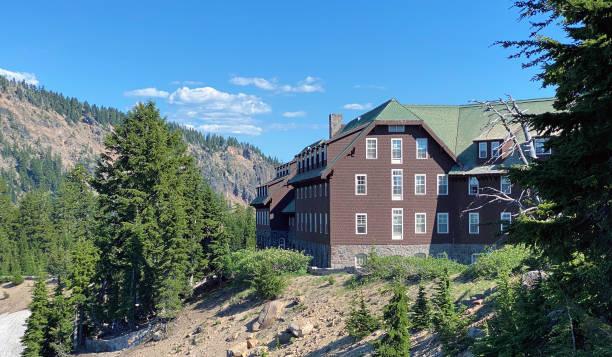 Crater Lake Lodge stock photo