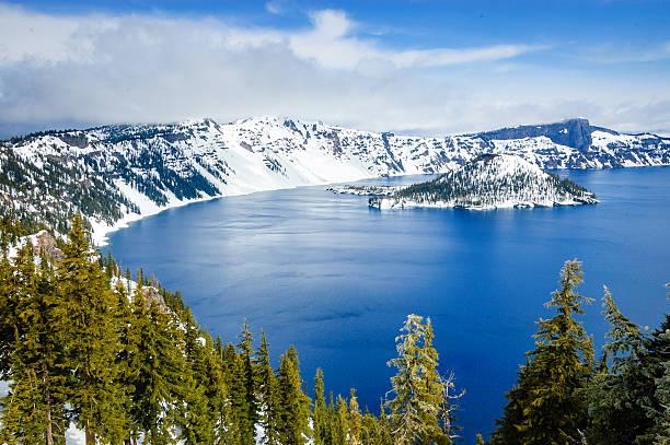 Crater Lake National Park stock photo