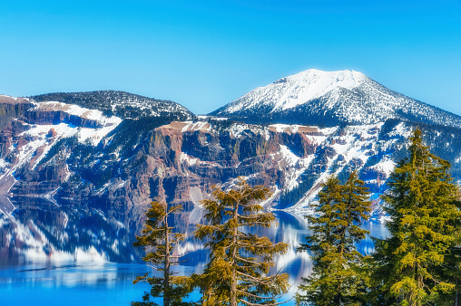 Crater Lake National Park Stock Photo - Download Image Now