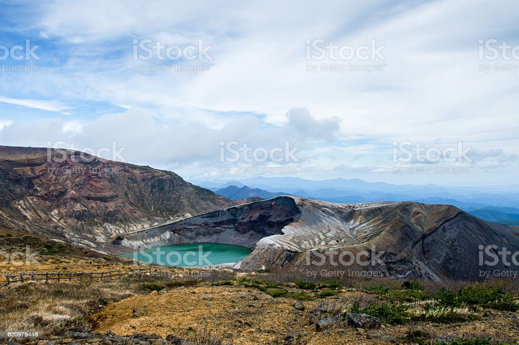 Crater Lake on a day in October in Japan, Zao foto royalty-free