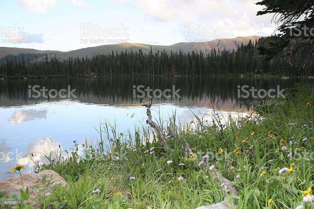 Crater Lake Sunset royalty-free stock photo