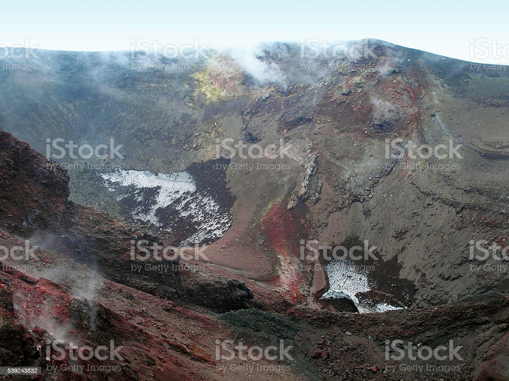 Crater of Etna. royalty-free stock photo