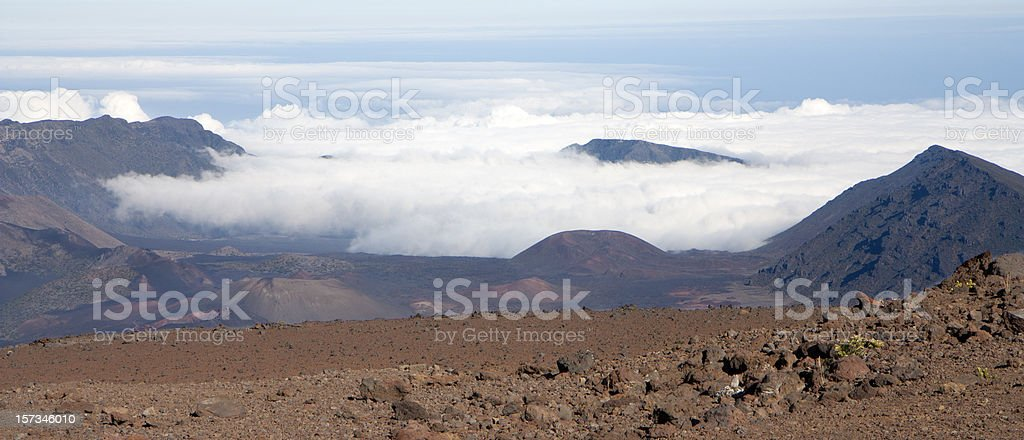 Crater of Haleakala volcano royalty-free stock photo