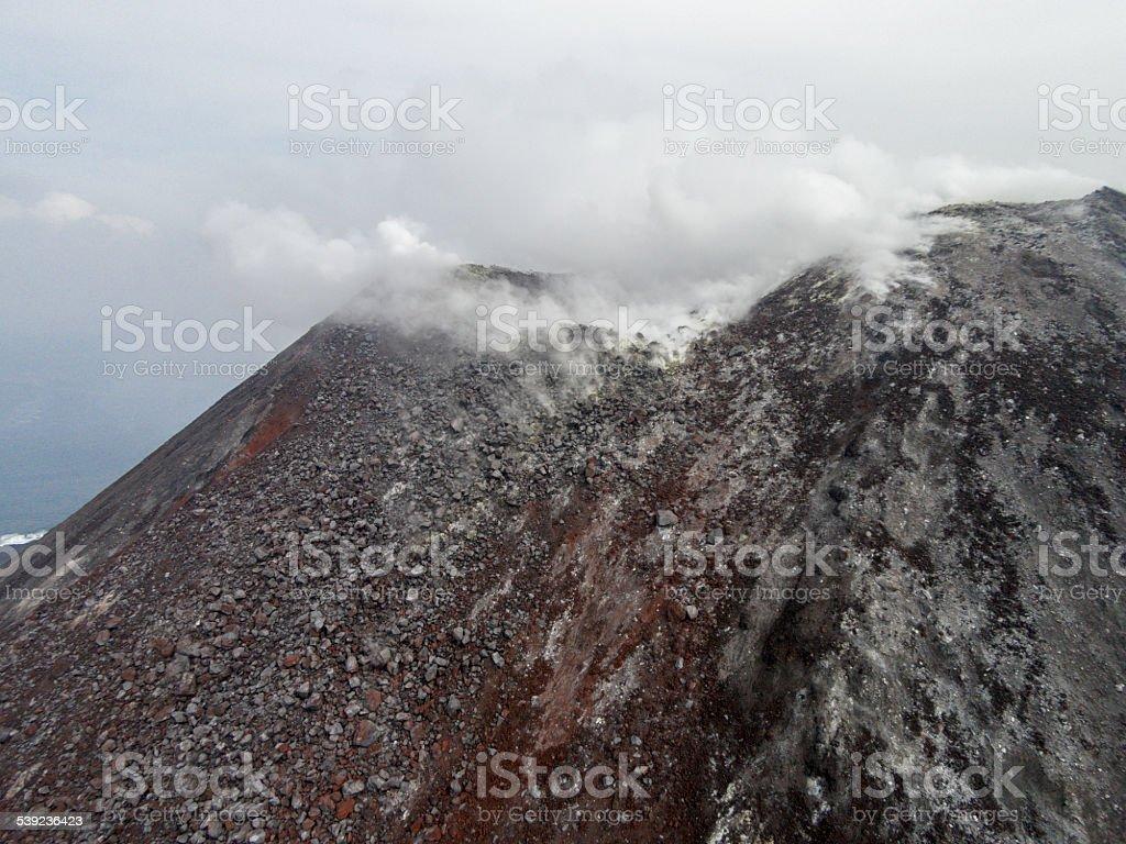 Crater of Krakatau volcano royalty-free stock photo