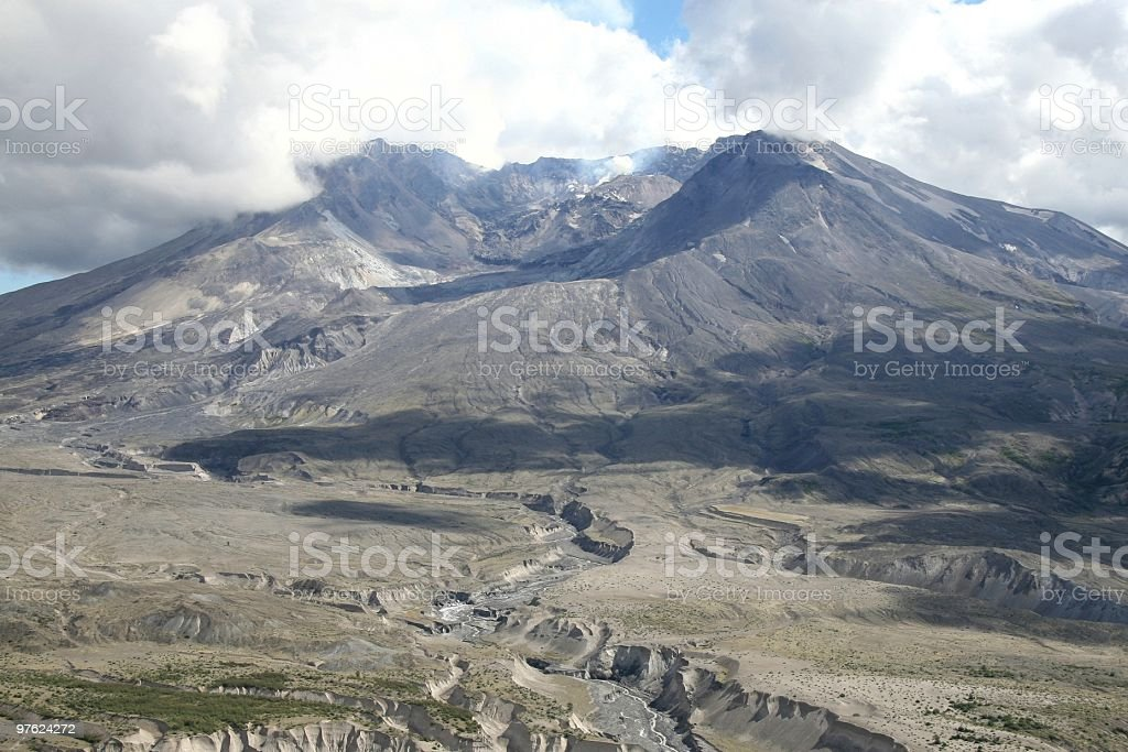 Crater of Mount St Helens, Washington State, Pacific Northwest USA royaltyfri bildbanksbilder