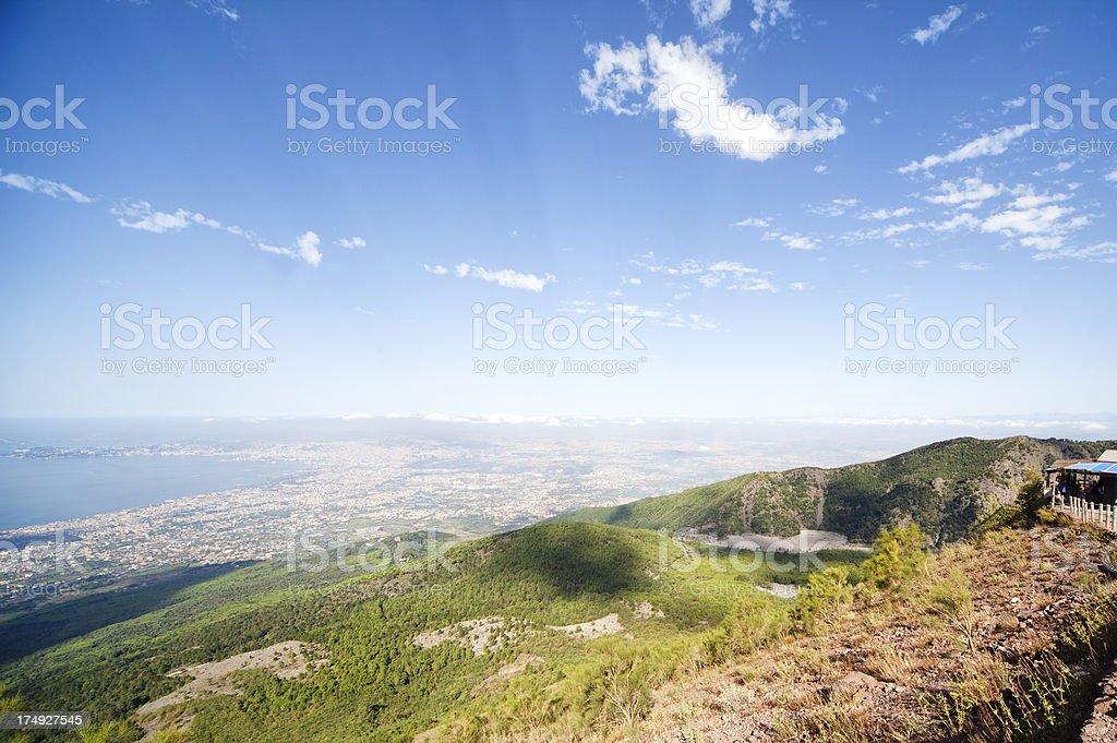 Crater of Mount Vesuvio royalty-free stock photo