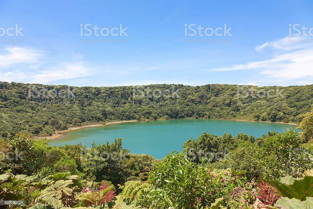 Crater of Poas Volcano, Costa Rica stock photo