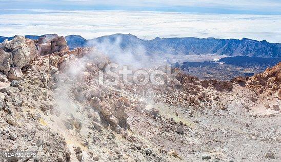 istock Crater of Teide Volcano. Tenerife, Spain 1247907276