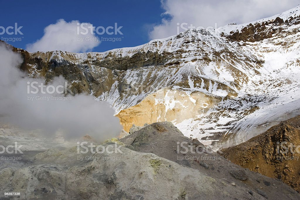 crater of the volcano royalty-free stock photo
