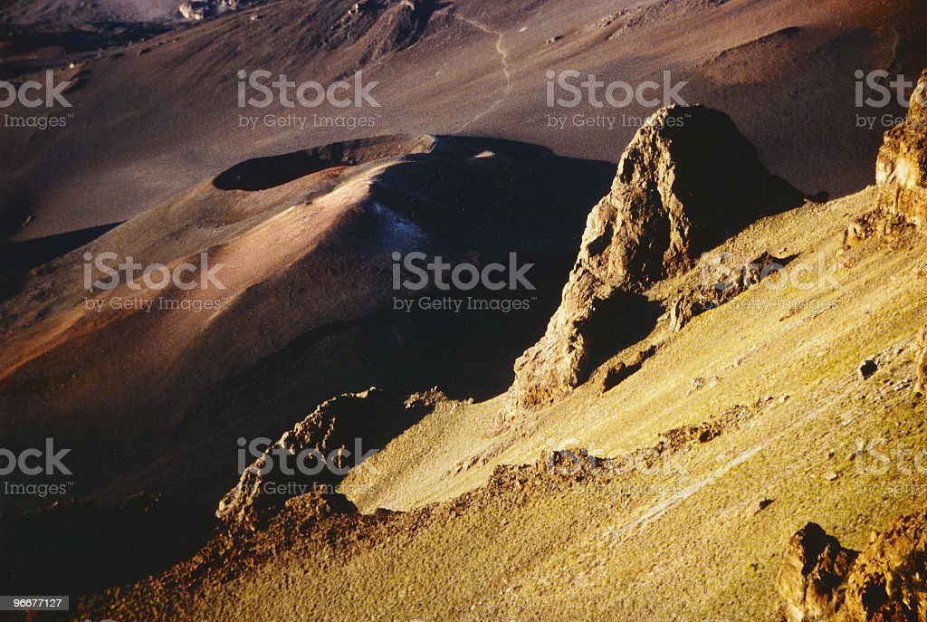 Crater royalty-free stock photo