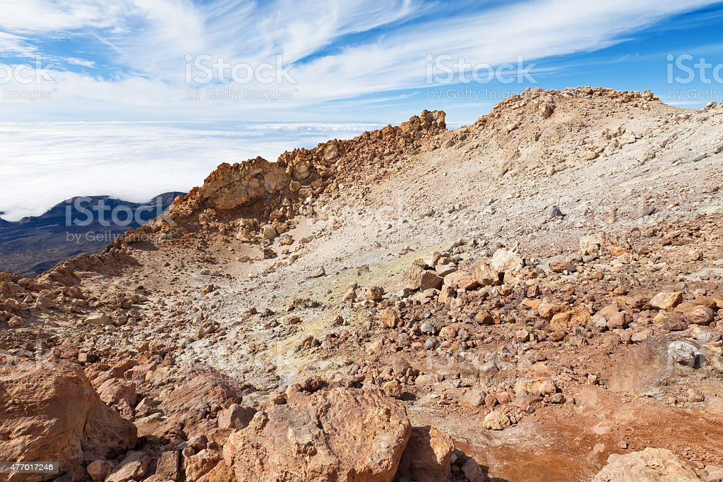 Crater. Teide National Park, Tenerife stock photo