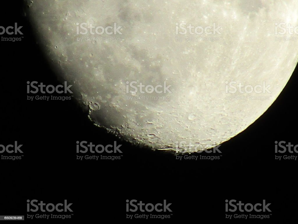 Craters in the night sky stock photo