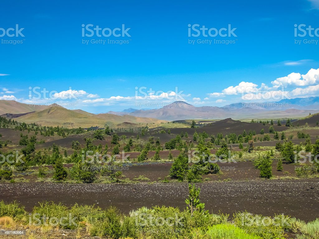 Craters of the Moon Idaho stock photo