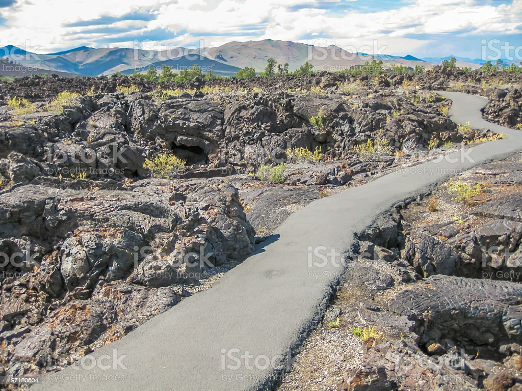 Craters of the Moon Nation Monument stock photo