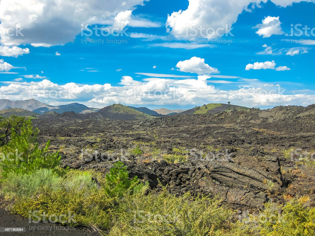 Craters of the Moon stock photo