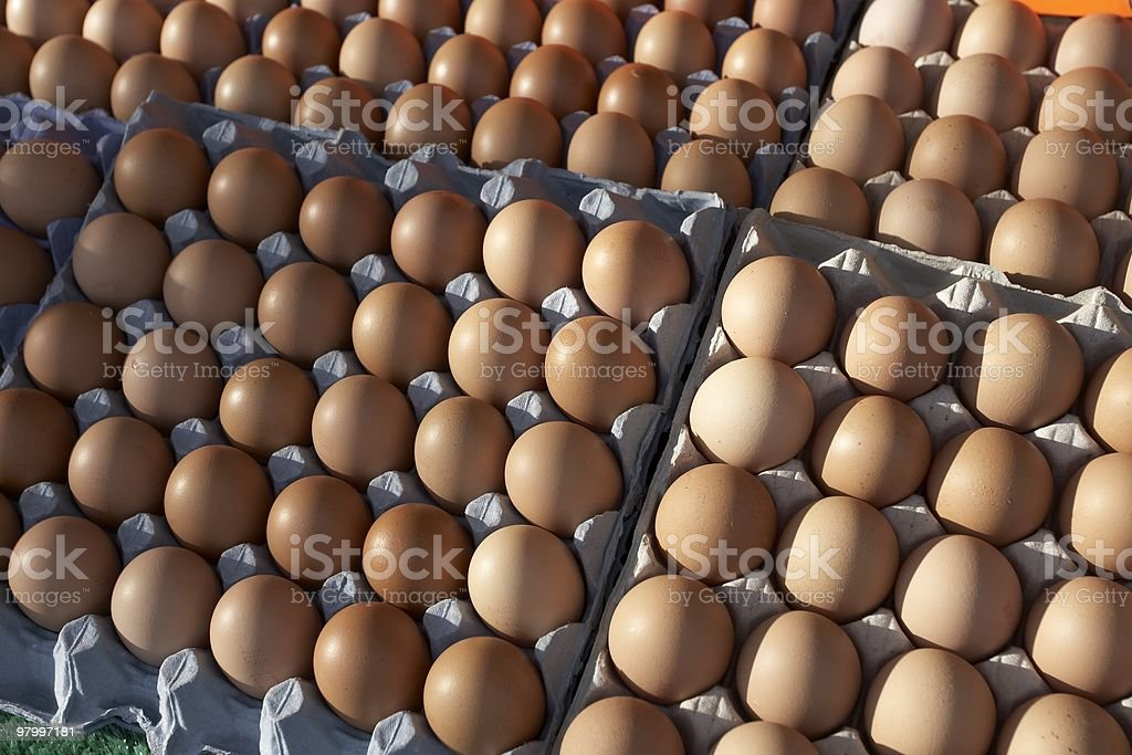Crates of eggs royalty-free stock photo