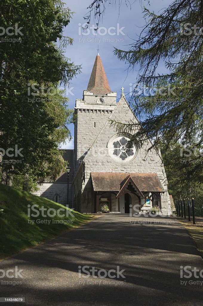 Crathie church stock photo