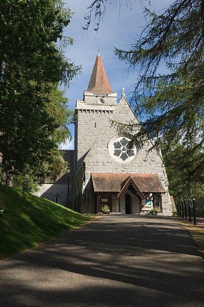 Crathie church stock photo