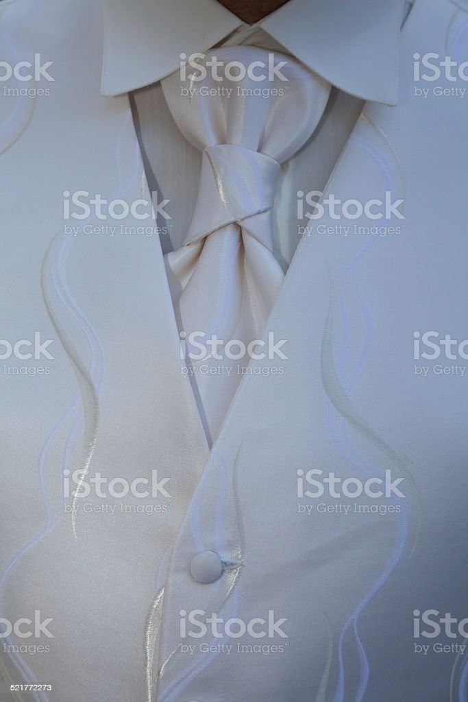Cravate cuir blanc stock photo
