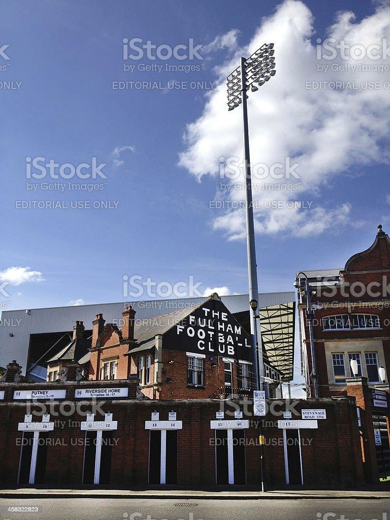 Craven Cottage, Fulham stock photo