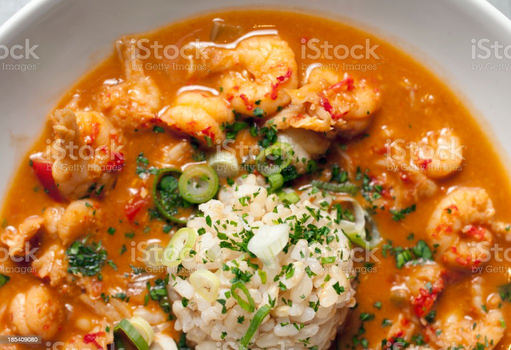 crawfish etouffee royalty-free stock photo