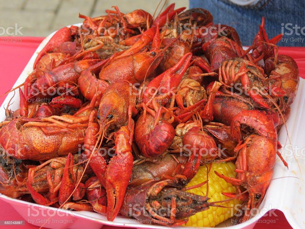 Crawfish Feast stock photo