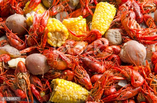 Crawfish boil or feed outside a restaurant in a northwest city