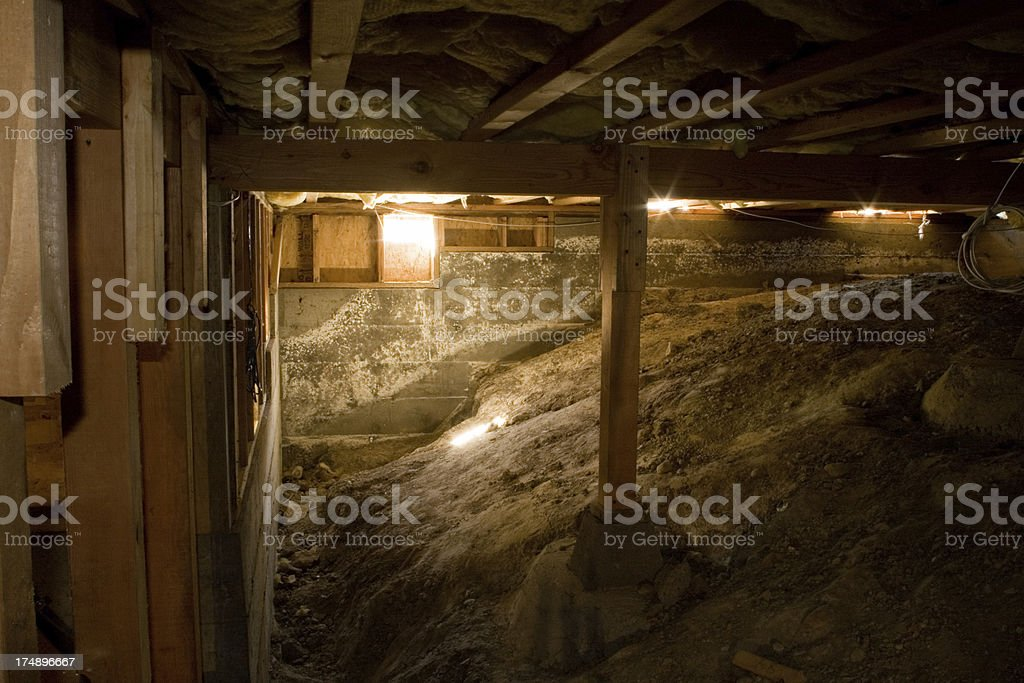 Crawl Space Darker royalty-free stock photo