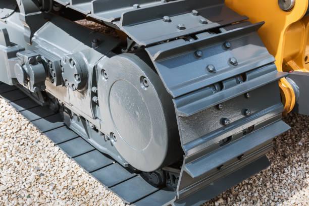 Crawler verfolgt Hydraulik auf einem Traktor oder Bagger – Foto