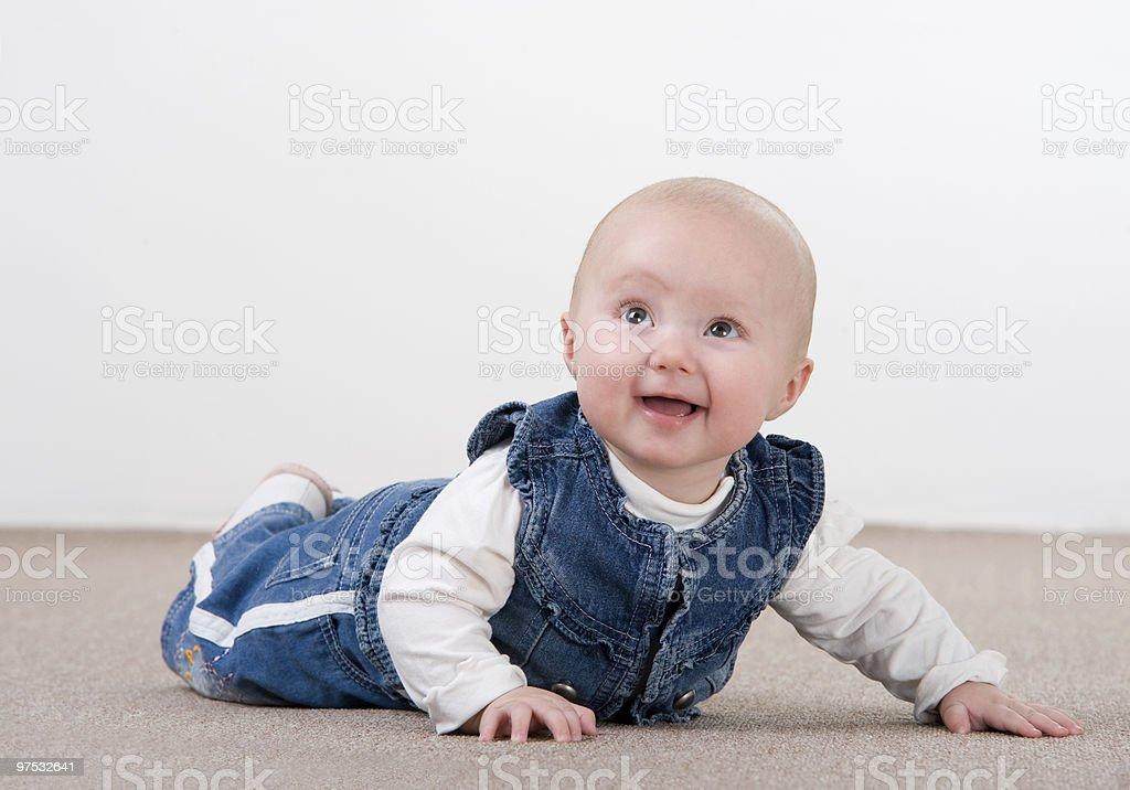 crawling baby girl royalty-free stock photo