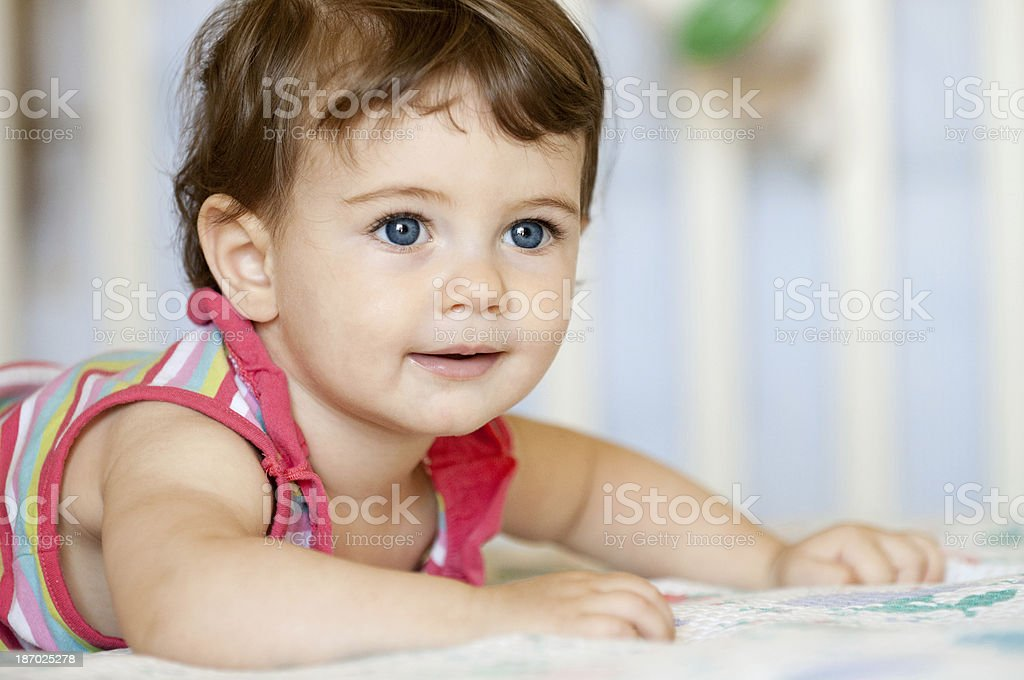 Crawling Baby royalty-free stock photo