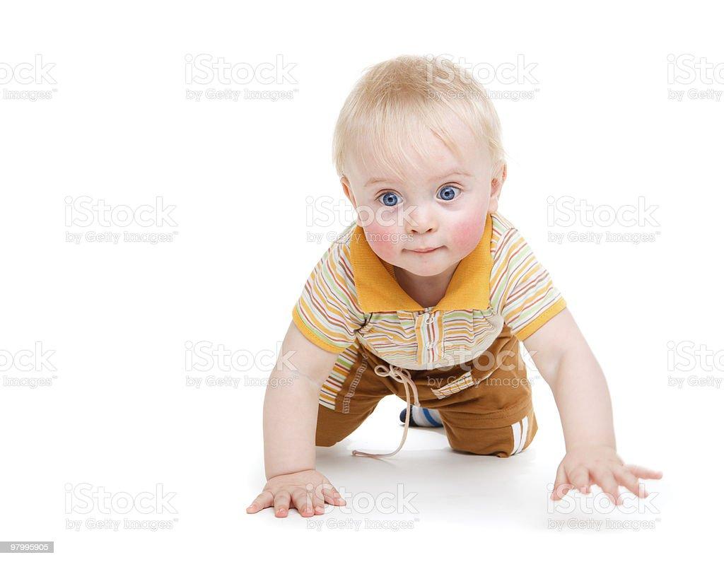 Crawling kid royalty free stockfoto