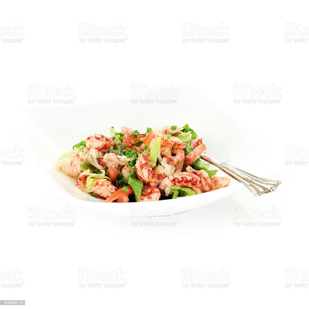 Crayfish Tail Salad II stock photo