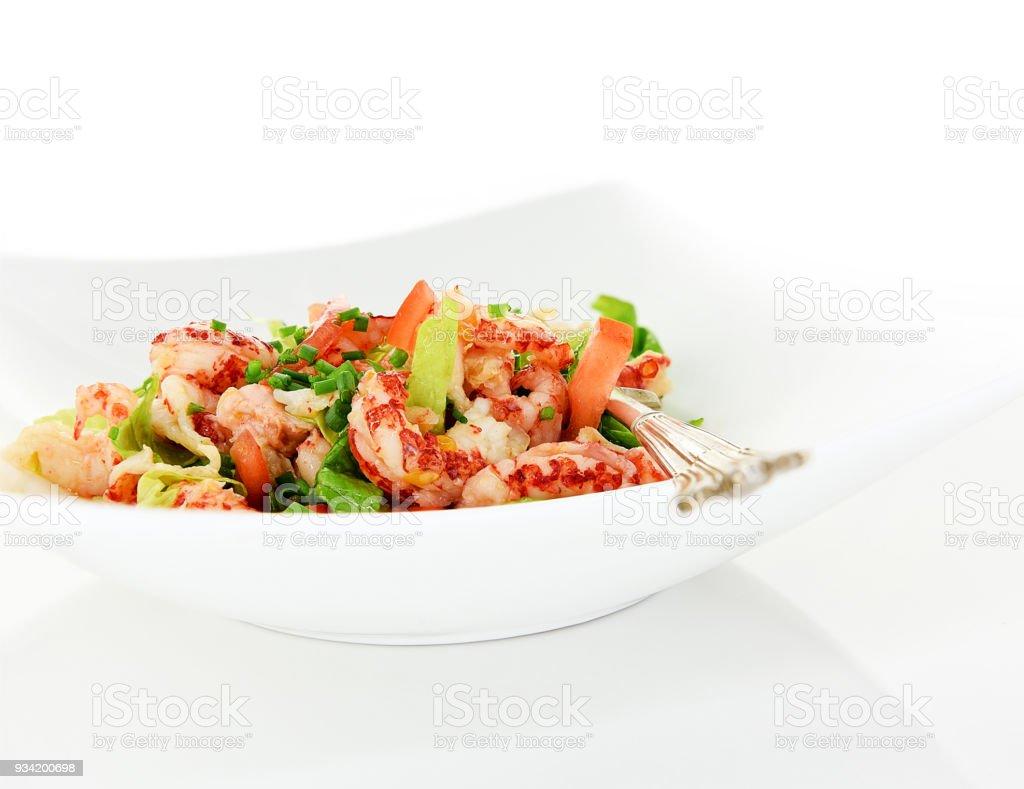 Crayfish Tail Salad stock photo