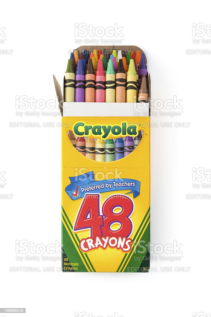 Crayola Crayons royalty-free stock photo