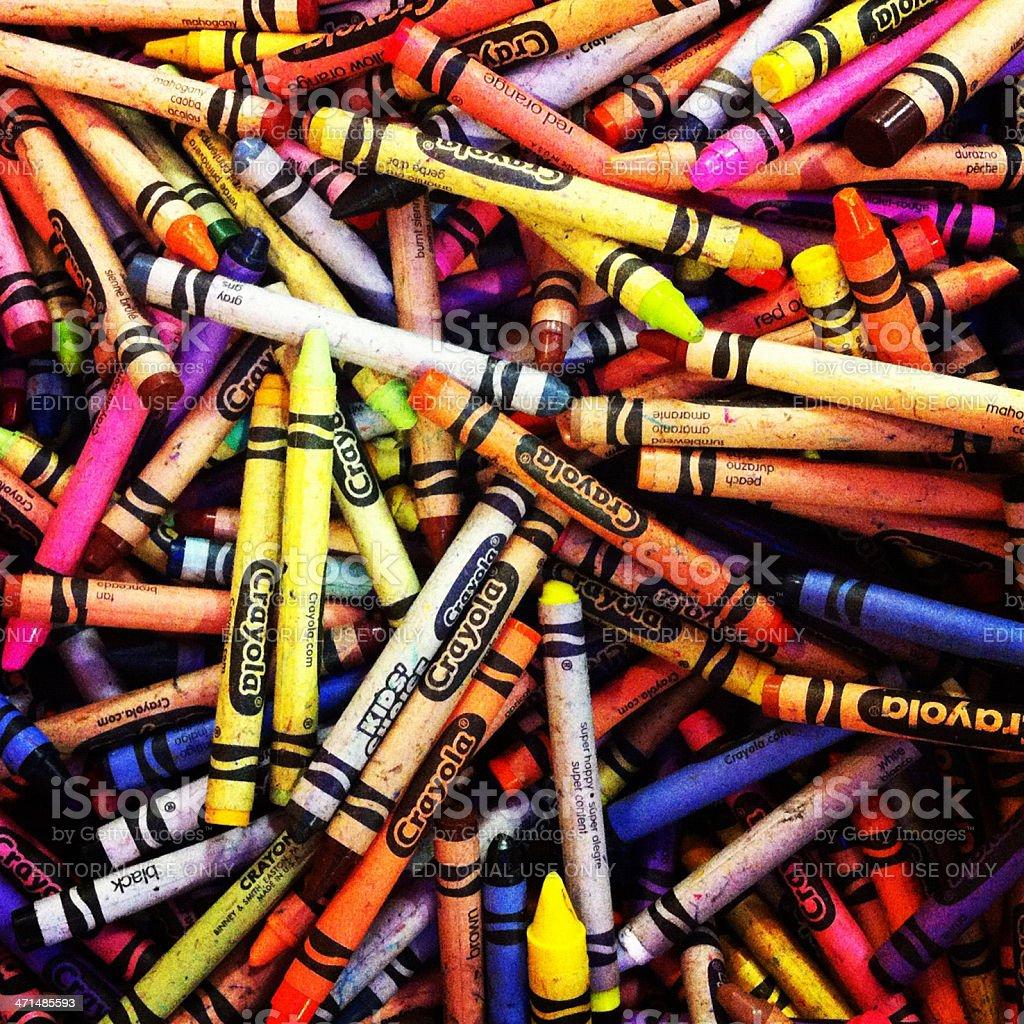 Crayola Crayons stock photo