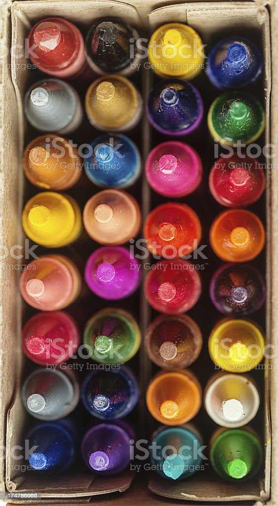 Crayon Box stock photo