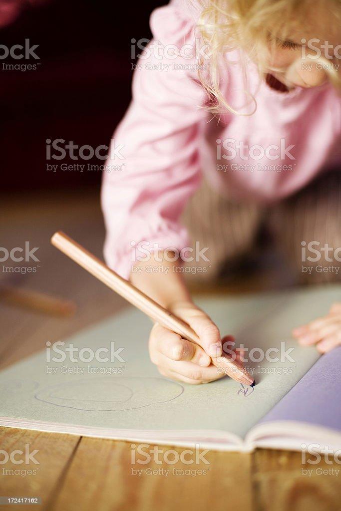 Crayon drawing royalty-free stock photo