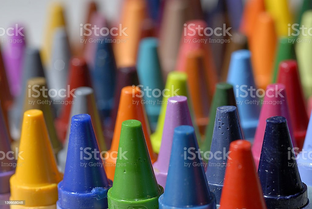 Crayon Macro Close Up stock photo