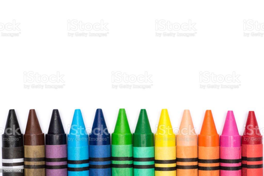Crayon rainbow stock photo