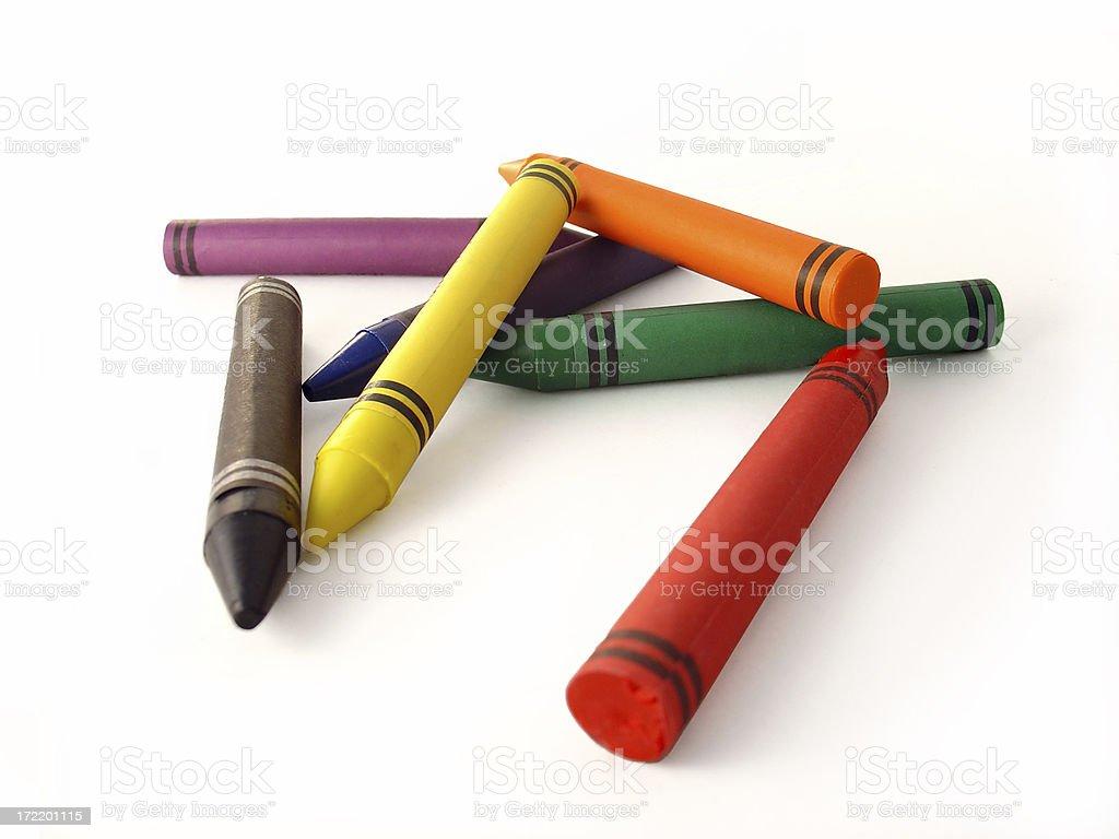 crayons 3 stock photo