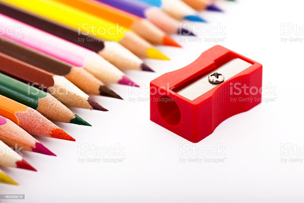 crayons and cutter stock photo