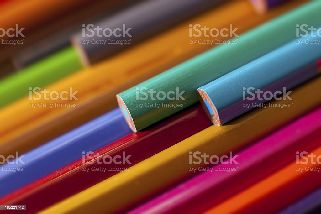 Crayons background stock photo