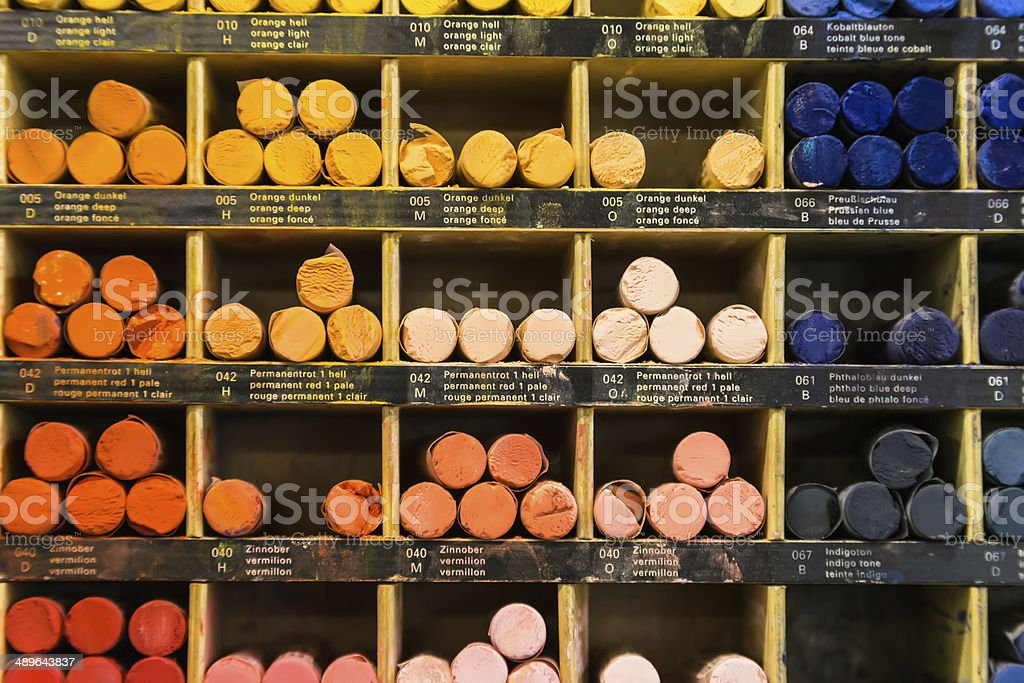 crayons background royalty-free stock photo