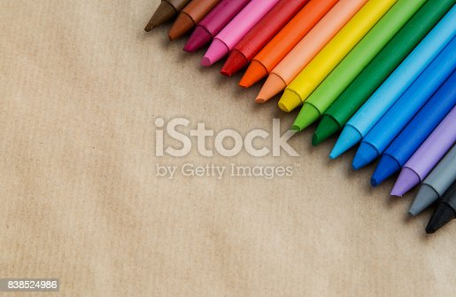 istock Crayons backgrounds 838524986