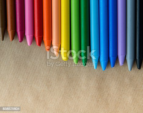 istock Crayons backgrounds 838525804