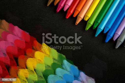 istock Crayons backgrounds 838528260