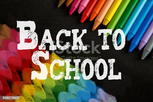 istock Crayons backgrounds 838529602
