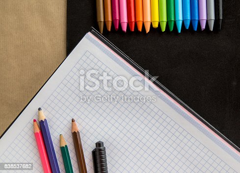 istock Crayons backgrounds 838537682