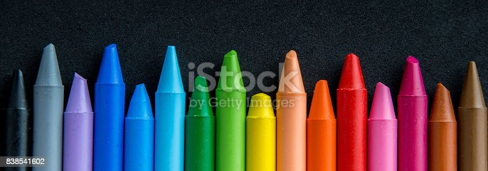 istock Crayons backgrounds 838541602